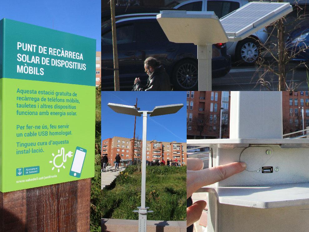 La Plaza España estrena cargadores solares para móviles: En Terrassa los retiran 1