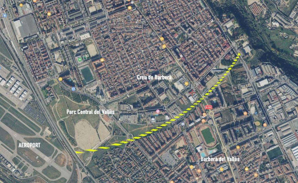 Fem Vallés dice no al tren Sabadell-Santa Perpètua-Granollers: Prefiere un intercambiador entre la R4 y la R8 en Barberà 2