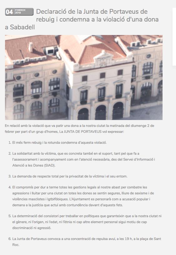 Tras la agresión sexual, el rechazo cívico llena la Plaça Sant Roc (4000 personas) y emociona 1